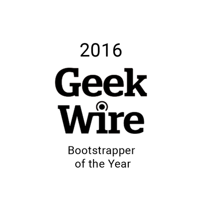 Bootstrapper of the Year in 2016 from Geekwire